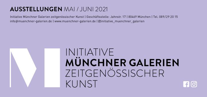 Faltblatt Münchner Galerien Mai/Juni 2021